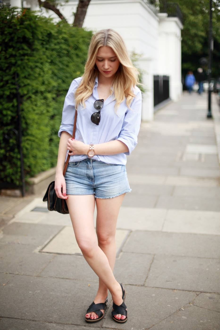 How to wear denim shorts for grown-ups
