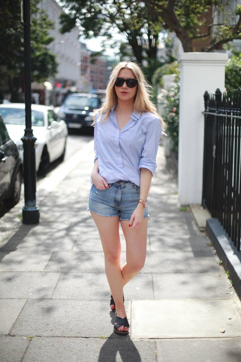 How to wear denim shorts for grown-ups - alajode.com