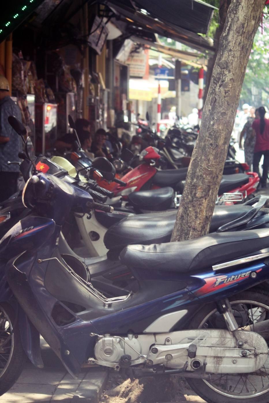 Hanoi Vietnam mopeds