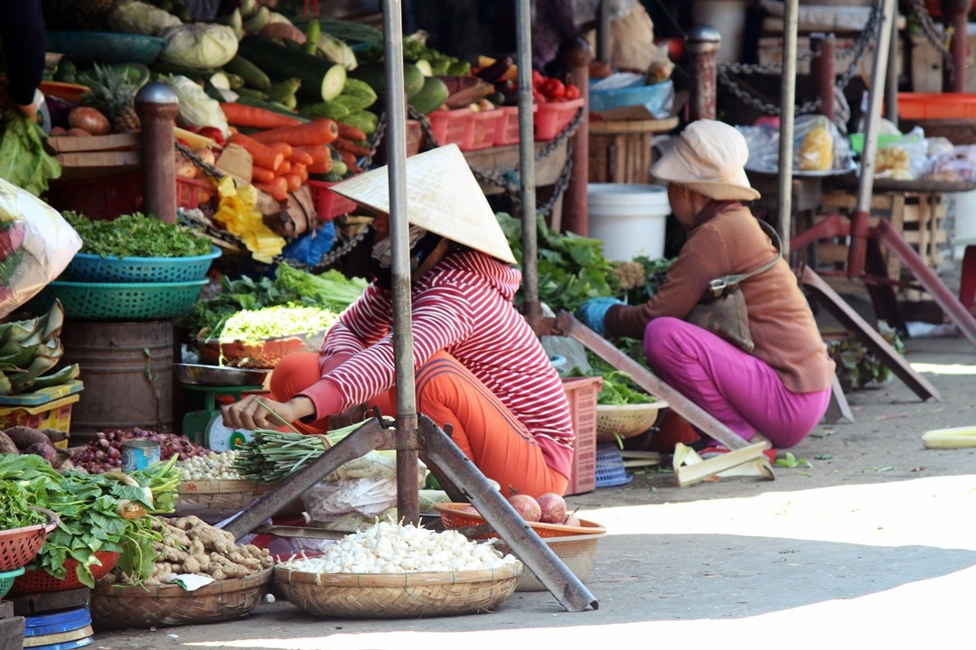 Hoi An vegetable street market