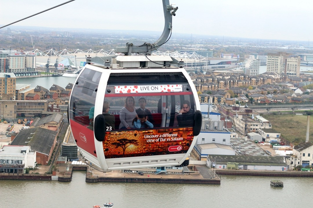 London Emirates airline car up close