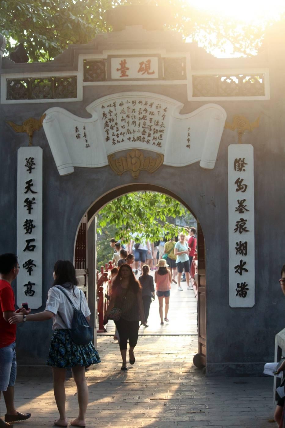 Hanoi Vietnam Hoan Kiem bridge