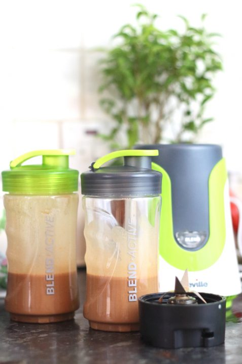 Chocolate banana protein smoothees