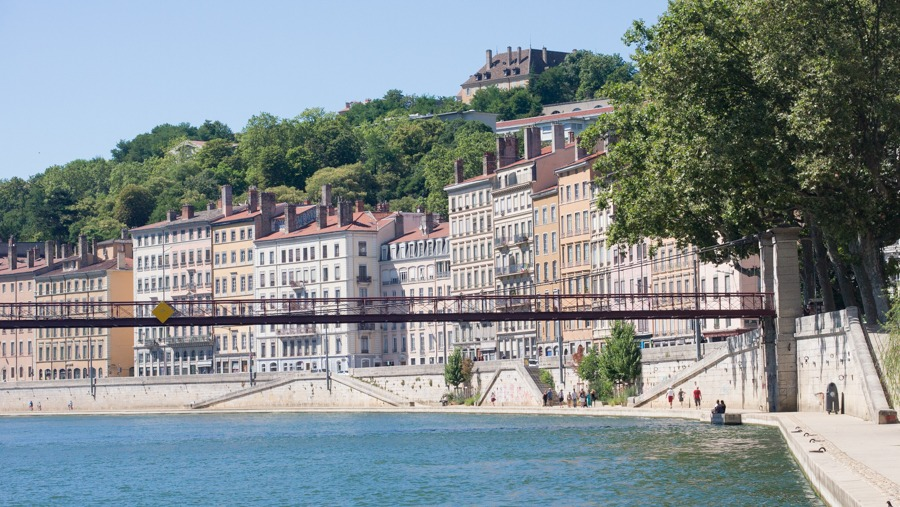 Old Lyon by the riverside