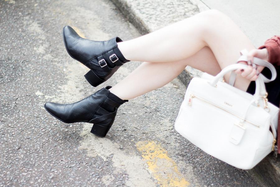 Kurt Geiger black leather need ankle boots