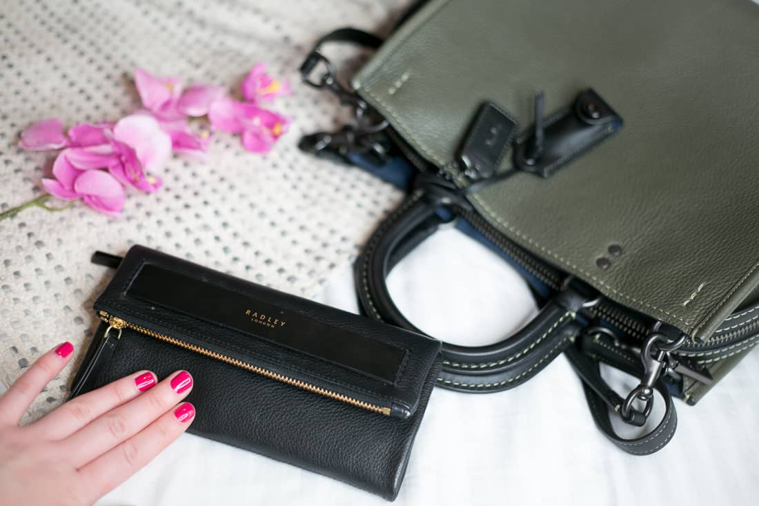 Black Radley leather purse