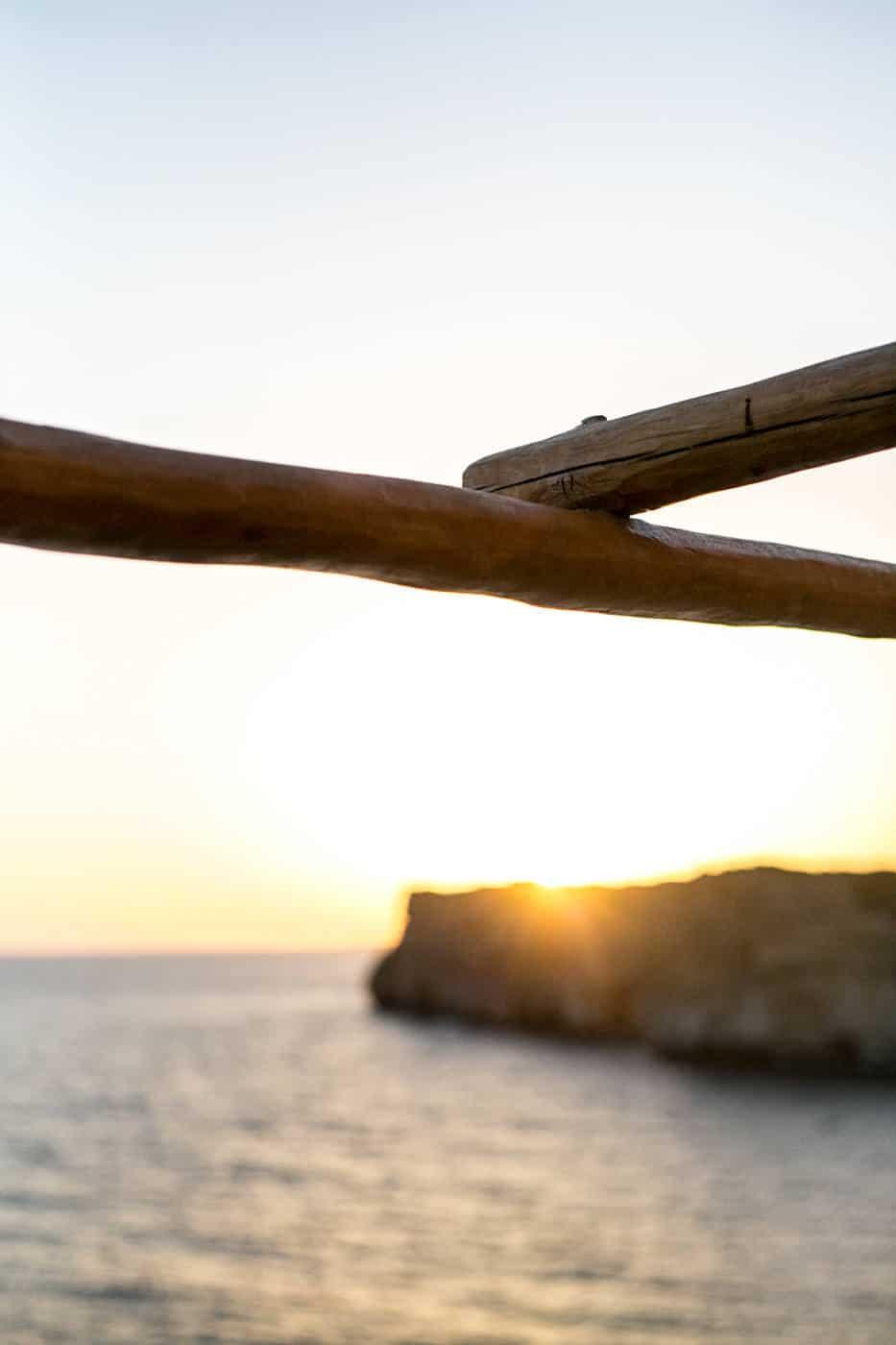 Menorca Cova d'en Xovoi cave bar sunset