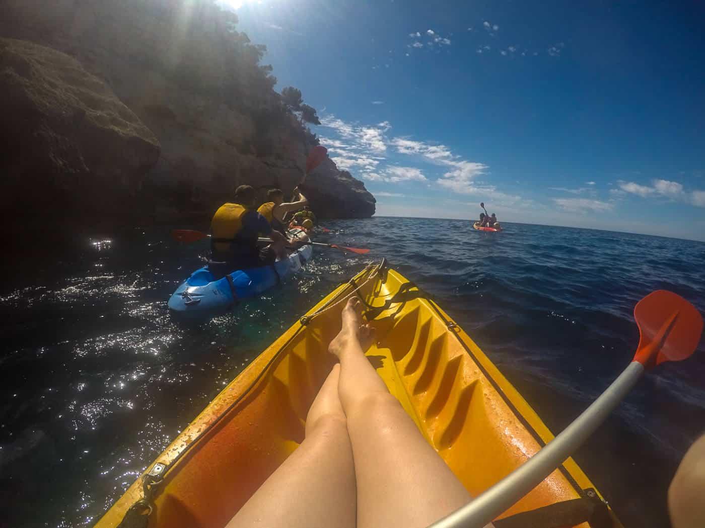 Kayaking in Cala Galdana