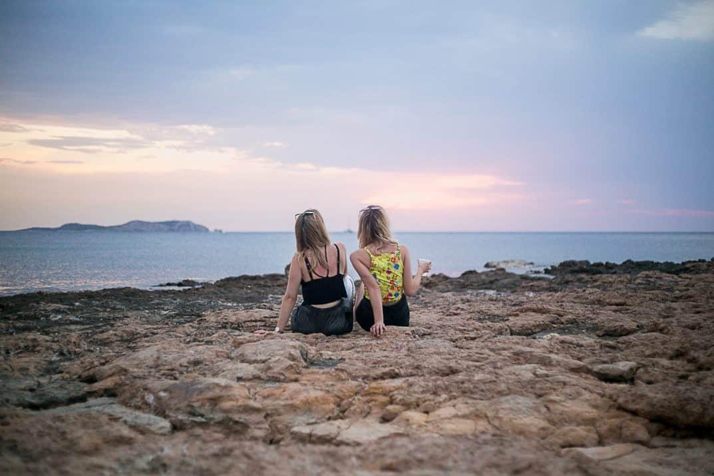 Ibiza sunset at Platja Pinet