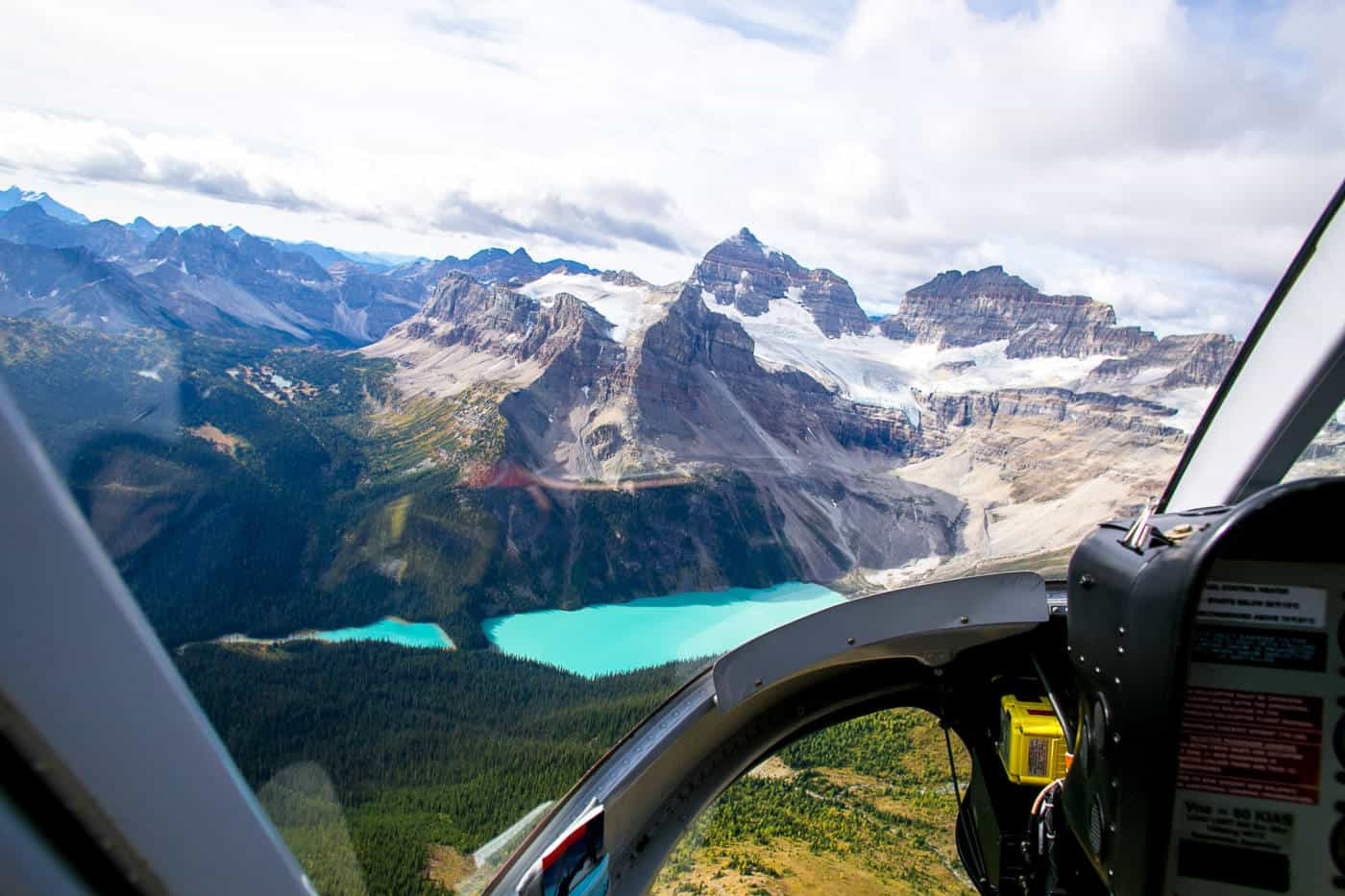 A helicopter flight in Canada