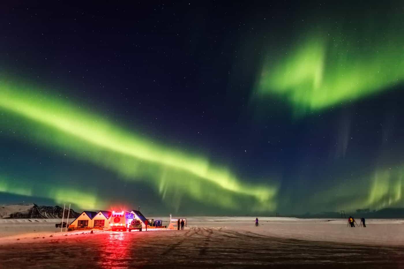 Northern Lights in Reykjavik Iceland