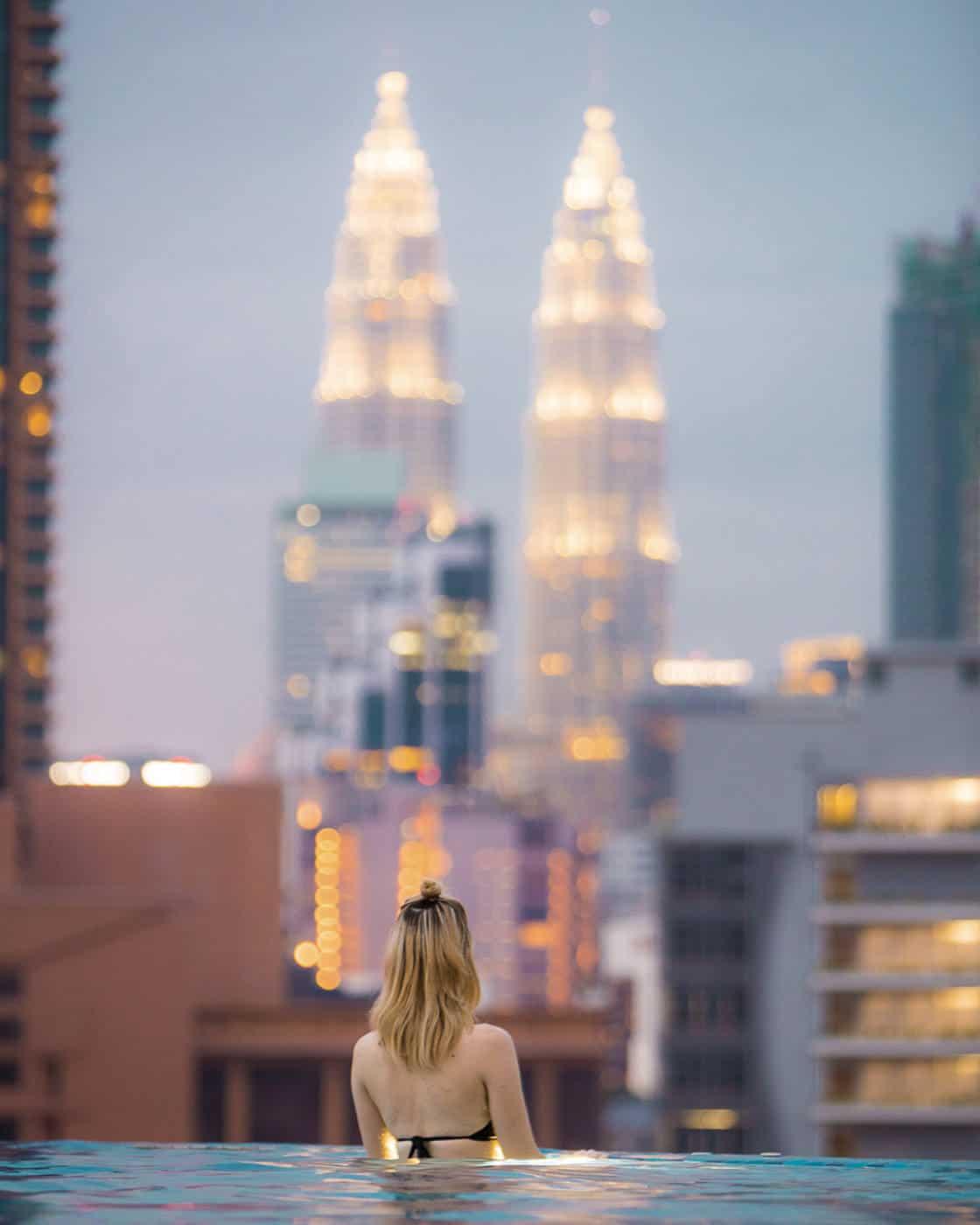 D'Majestic Hotel Kuala Lumpur infinity pool