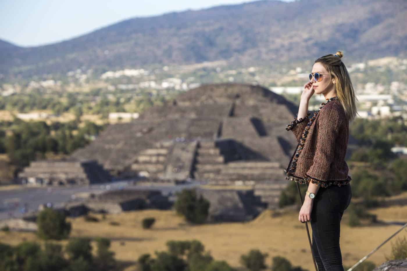 Teotihuacan temples outside Mexico City, Mexico