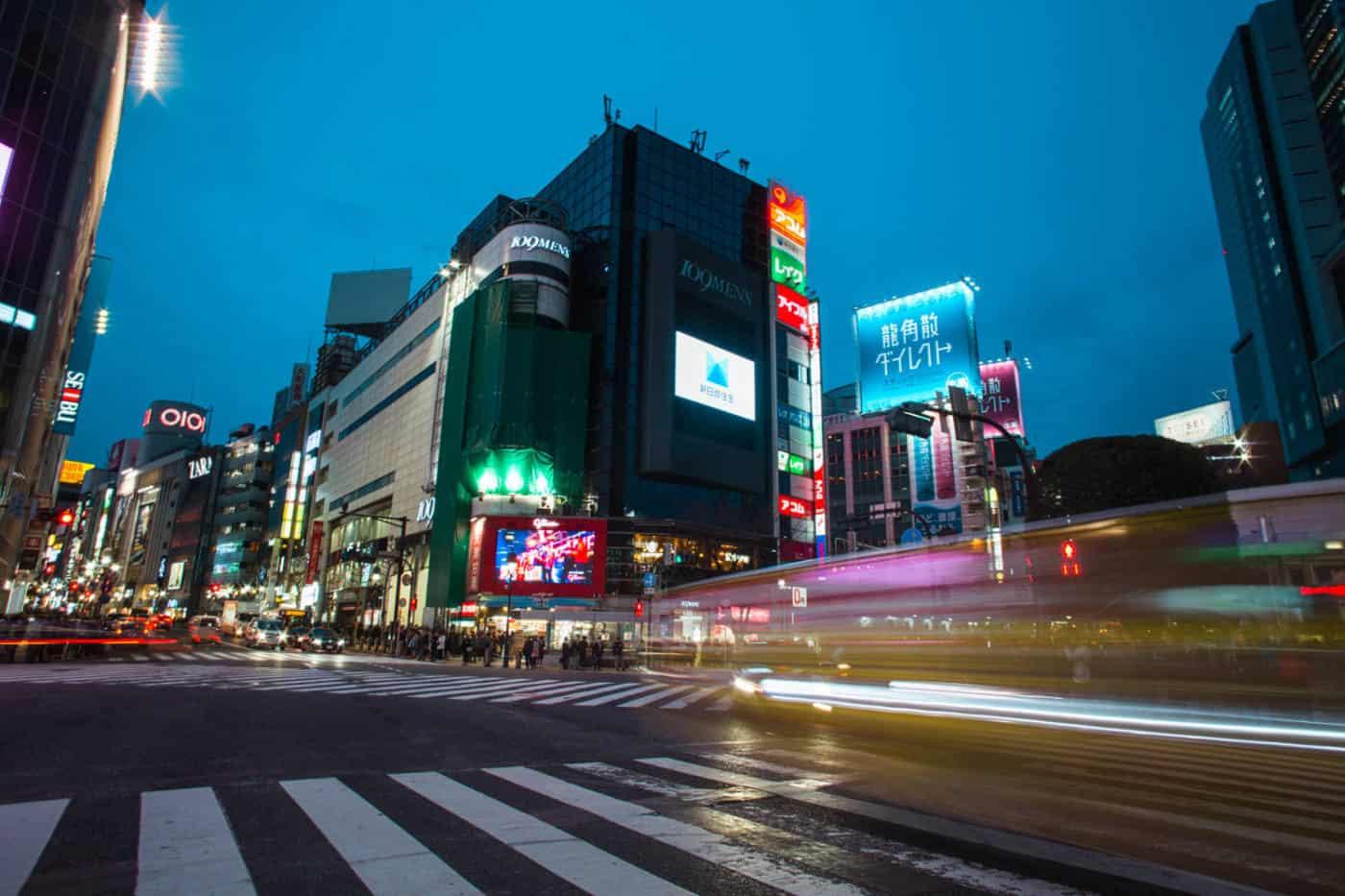 Shibuya at night tokyo nightlife