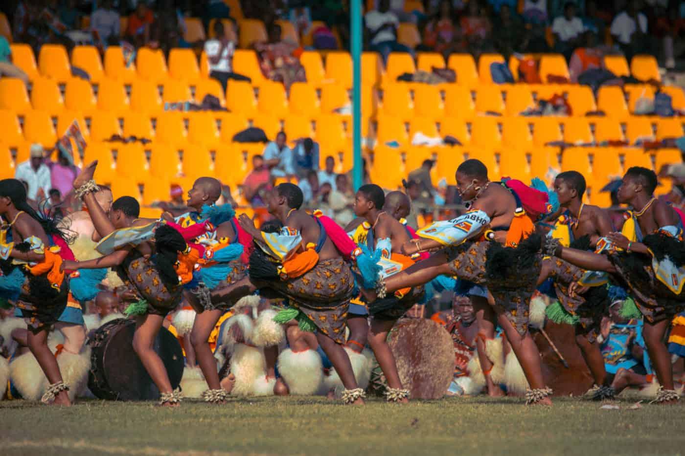 Swaziland traditional dancing