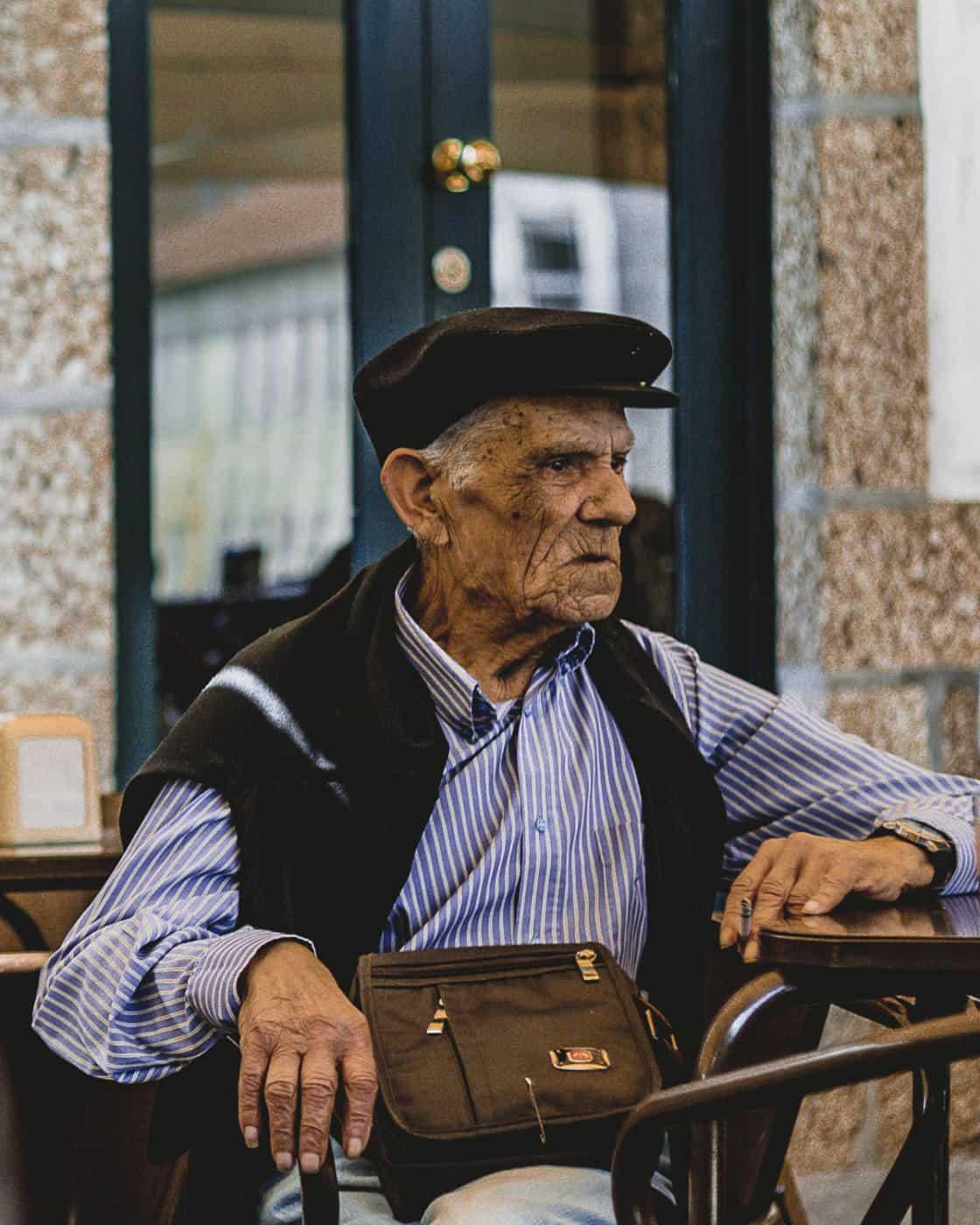 Portuguese man at Deguste restaurant in Guimaraes Portugal-4
