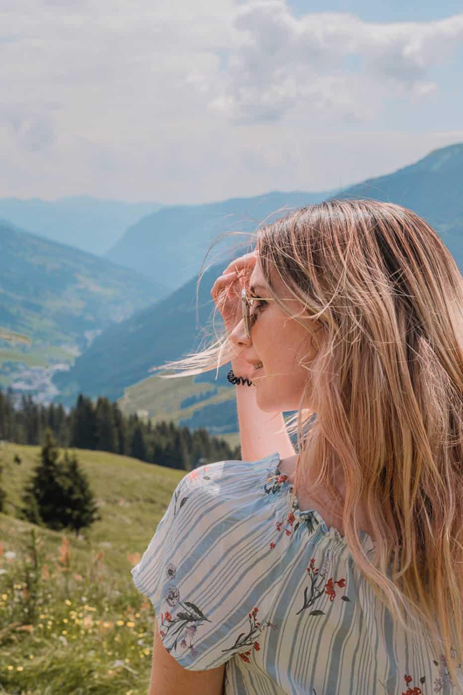 Saalbach mountain hike view