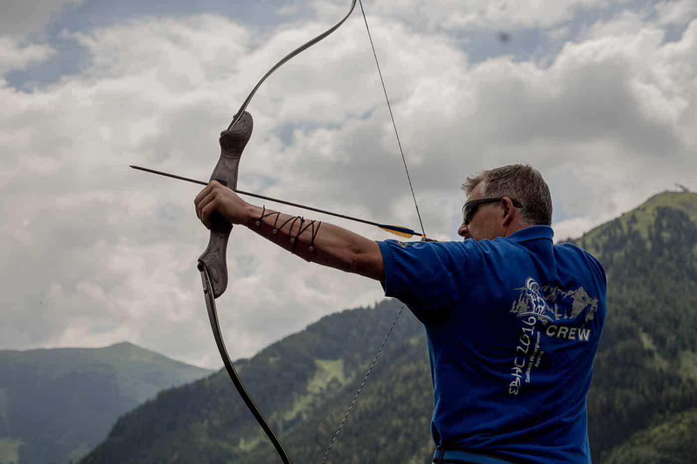 Archery during summer in Saalbach Austria