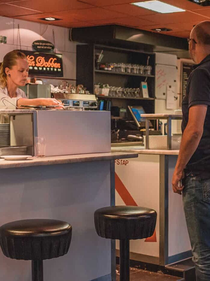 Van Dobben eetsalon restaurant in Amsterdam Netherlands