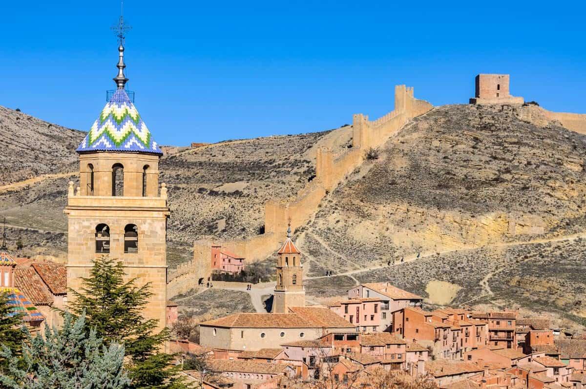 Side view in Albarracín, Spain