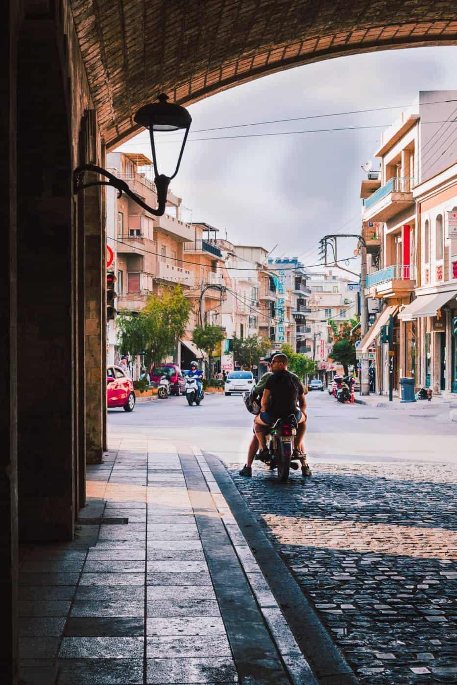 Scooter in Crete Greece