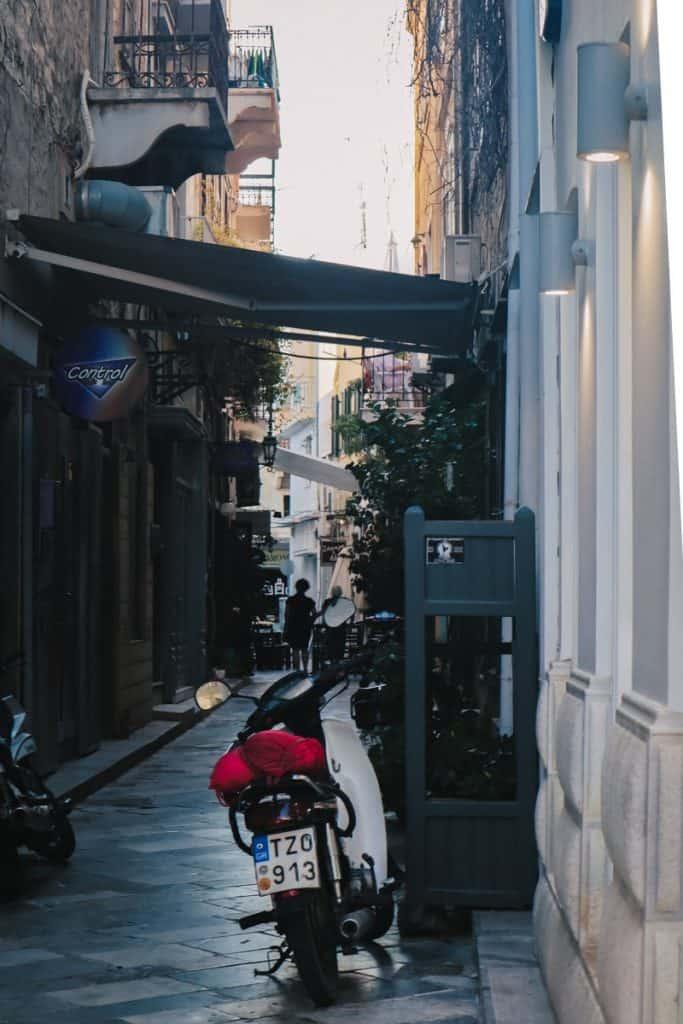 Syros alley on the Greek islands