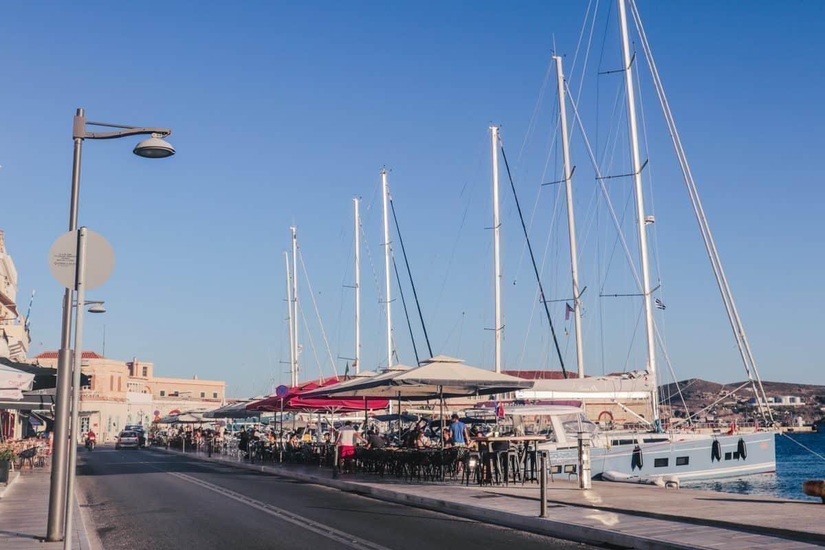 Syros Greece living on the Greek islands