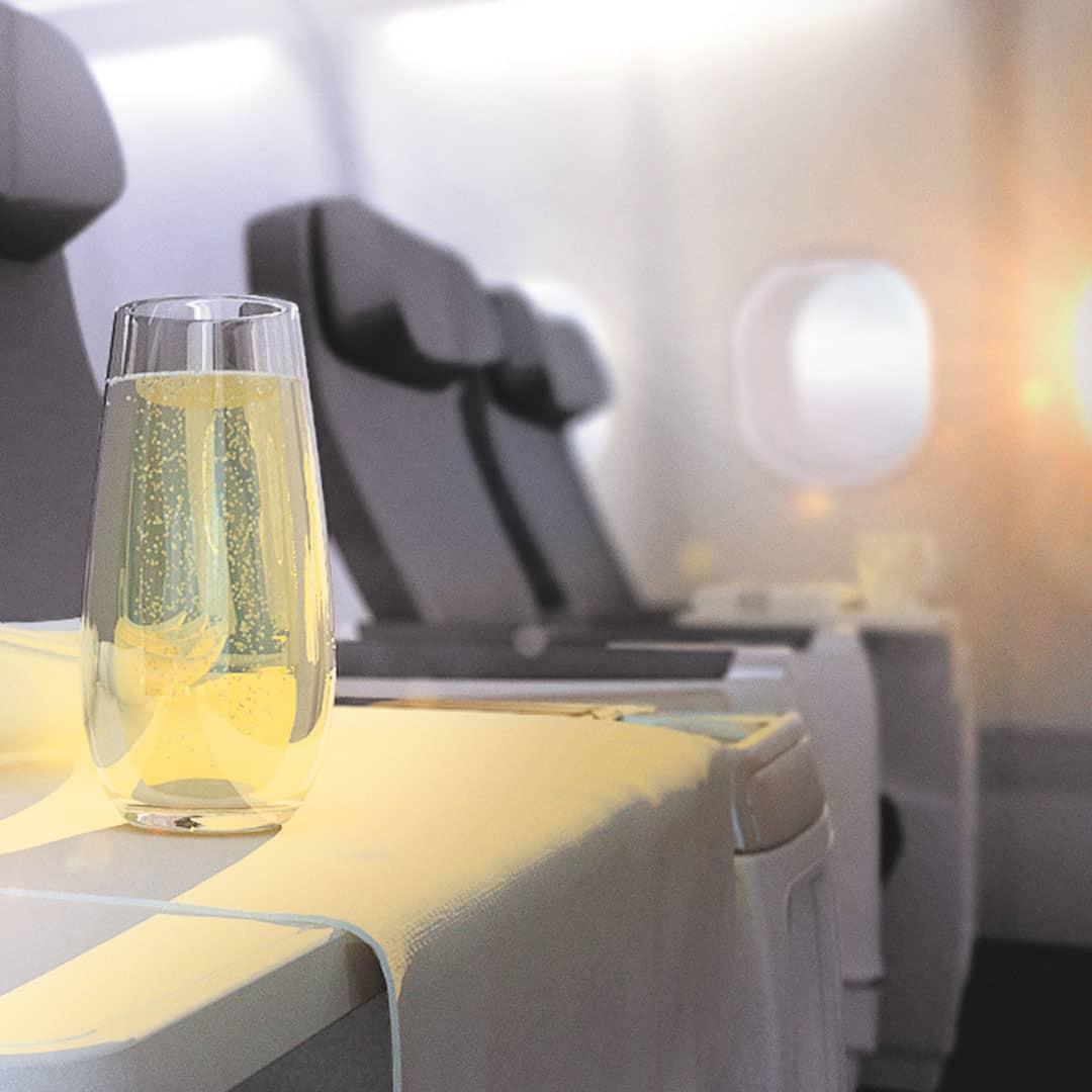 Drink on Air Transat Club class flight
