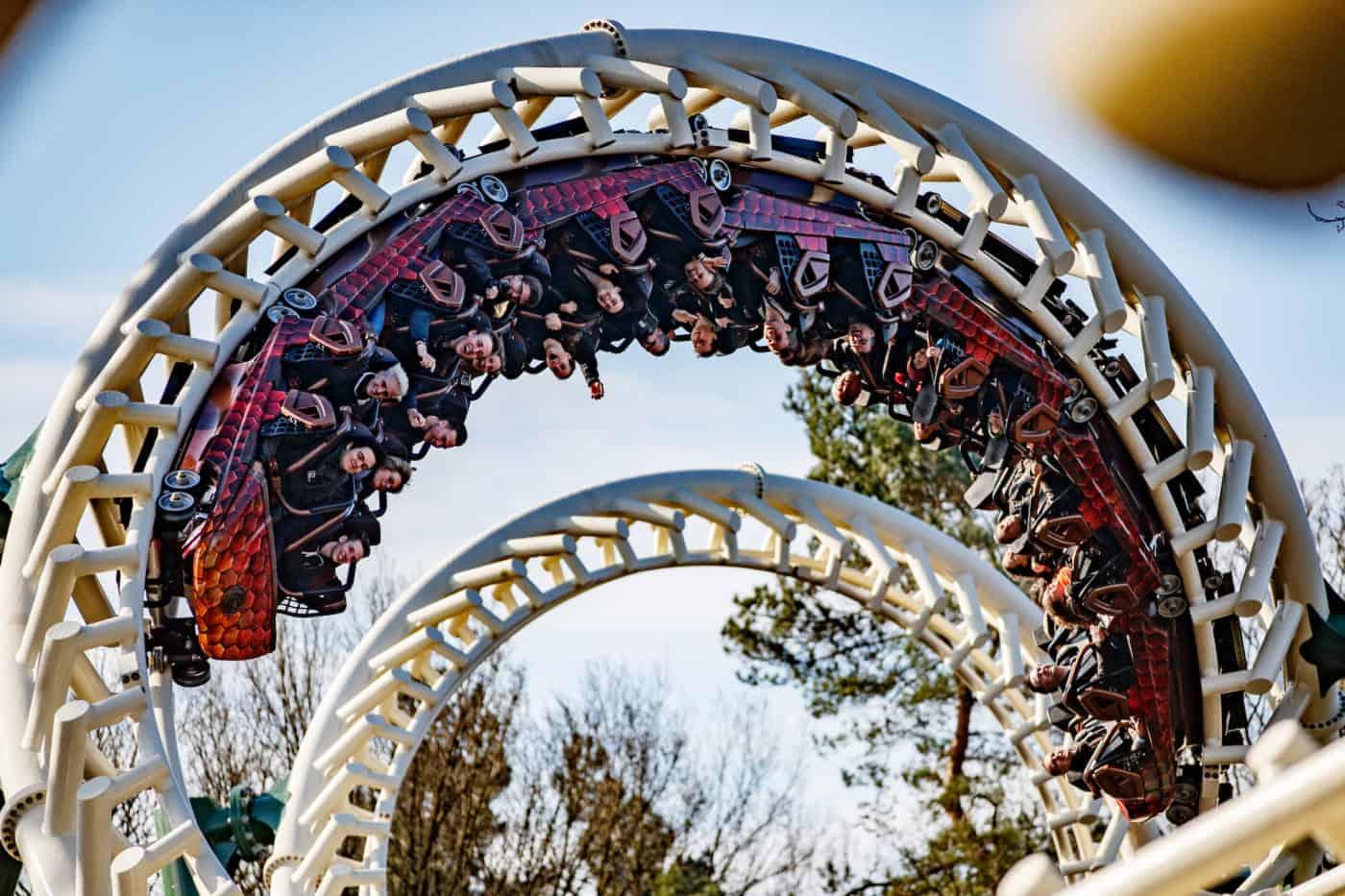 Efteling Park Python roller coaster