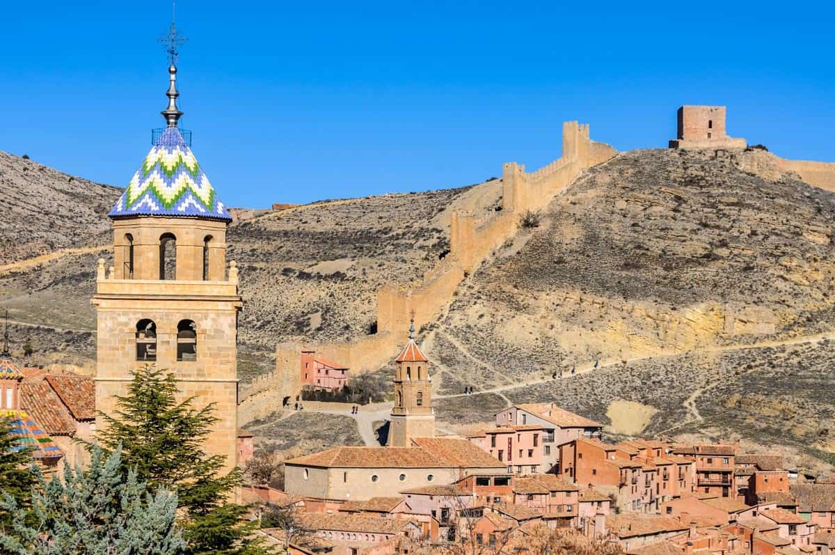 Side view in Albarracín, Spain