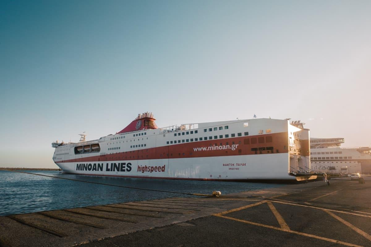 Minoan Lines ferry in the Greek Islands