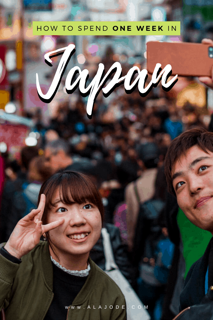 how to spend one week in Japan