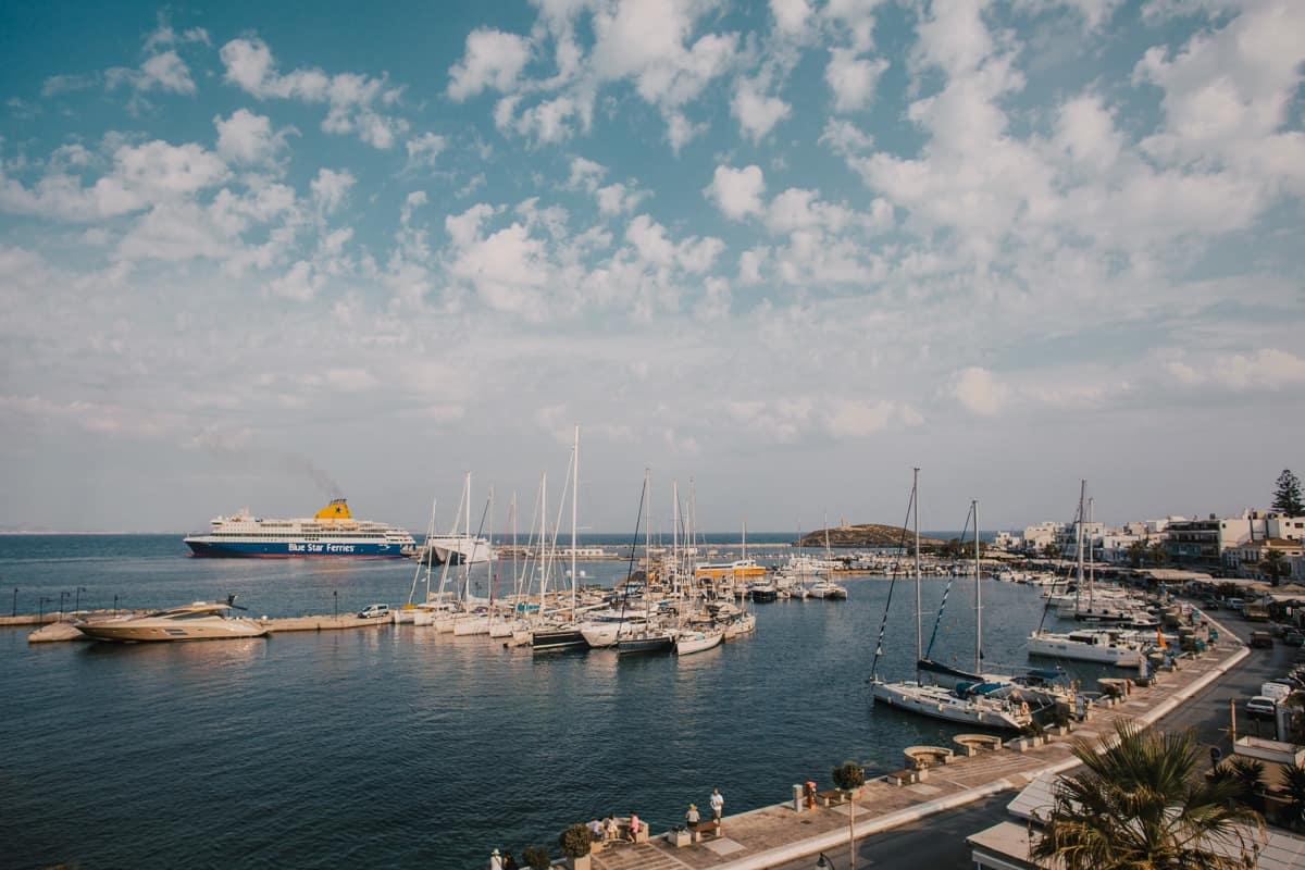 Greek Island Ferries in Naxos Greece