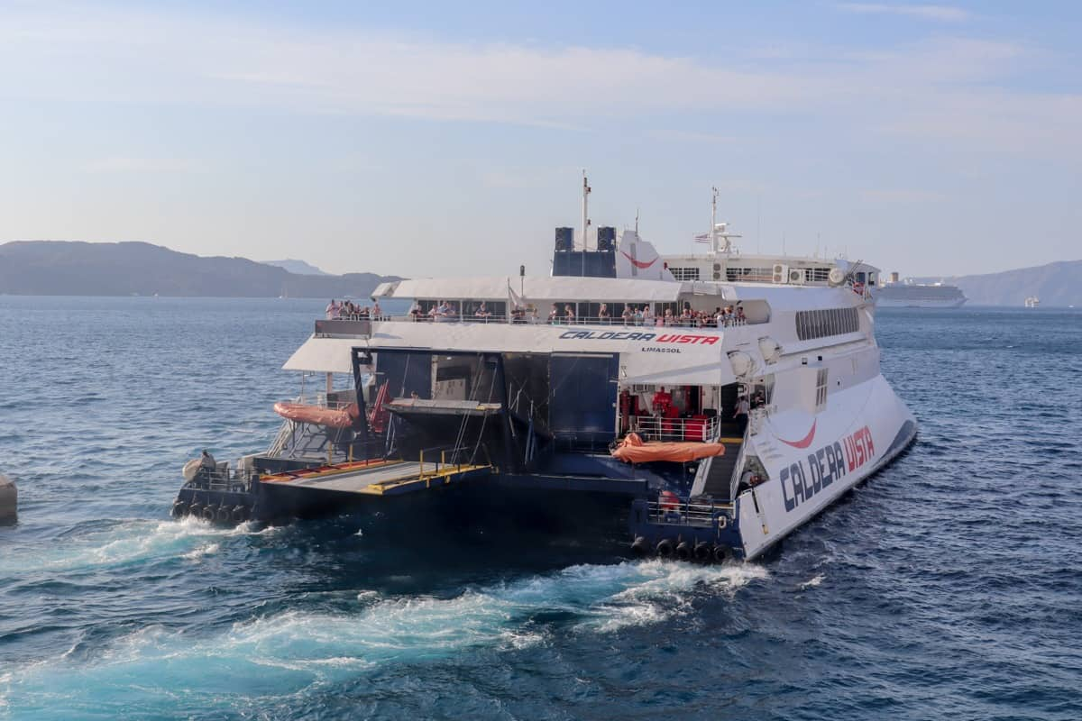 Seajets Caldera Vista ferry in the Greek Islands