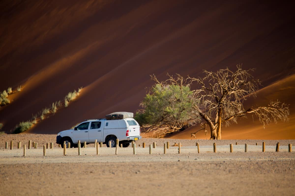 Driving in Namibia