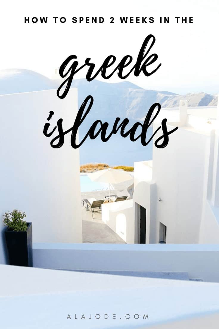 2 weeks in the greek islands itinerary