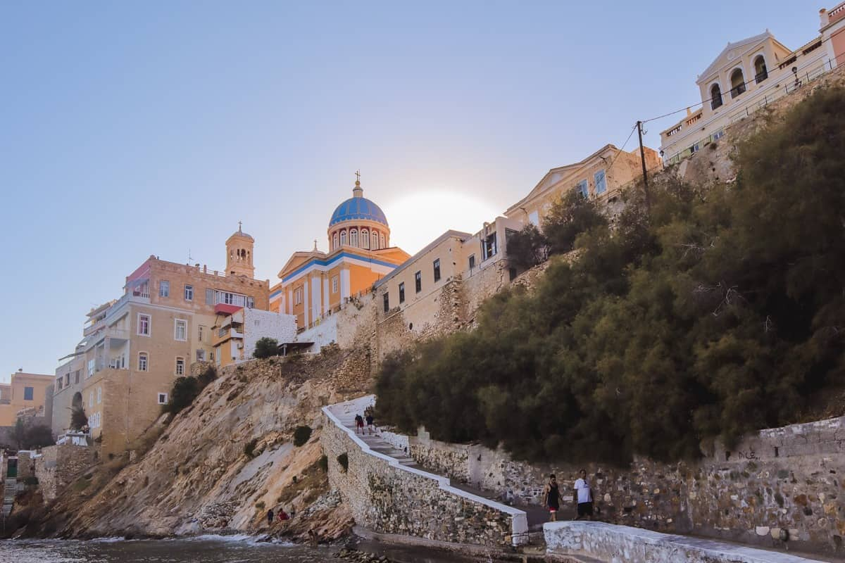Syros island hopping in Greece