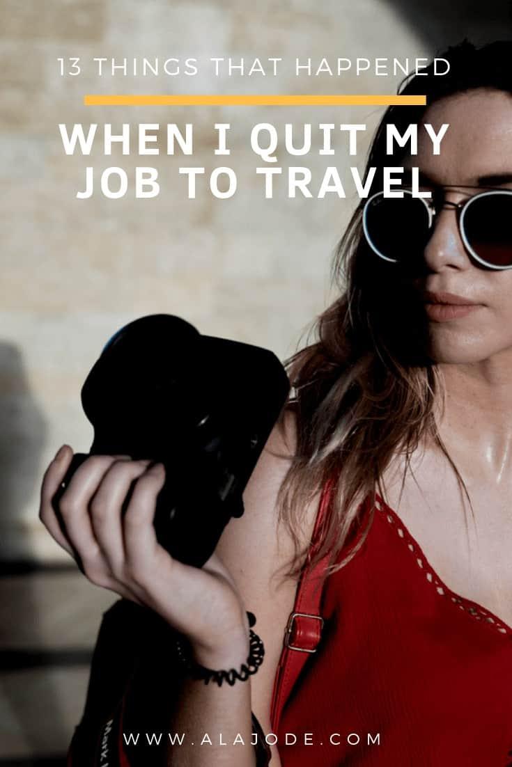 i quit my job to travel