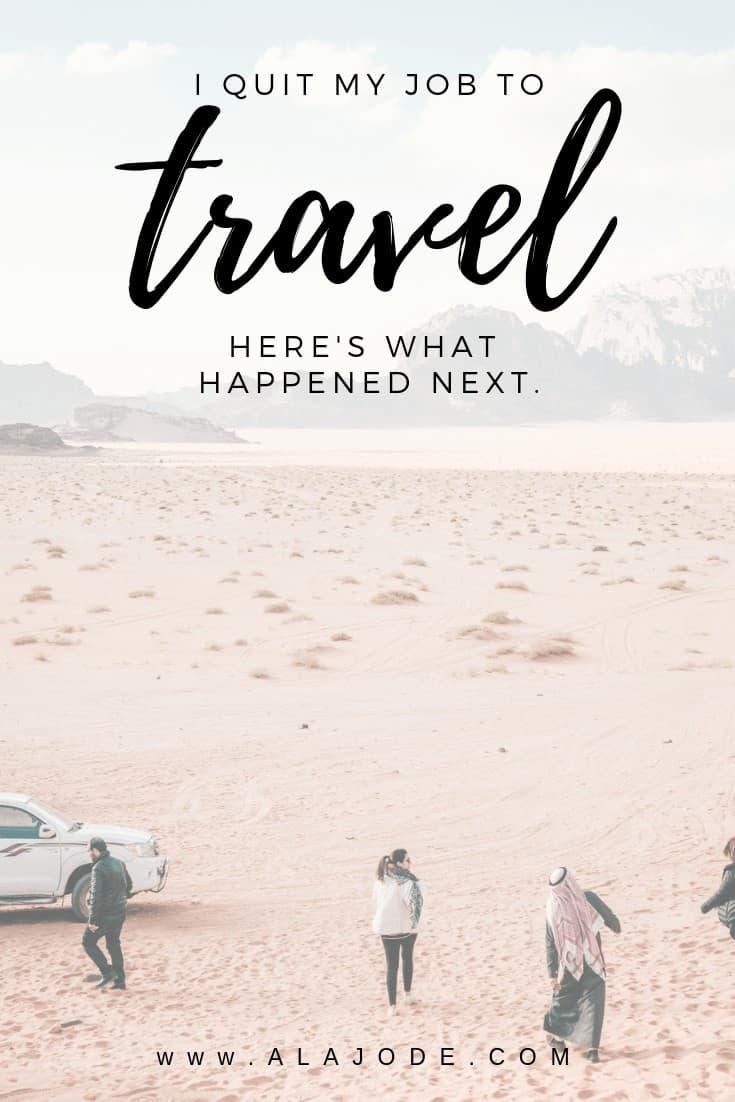 quit my job to travel