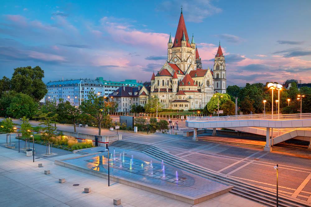 Cityscape in Vienna Austria