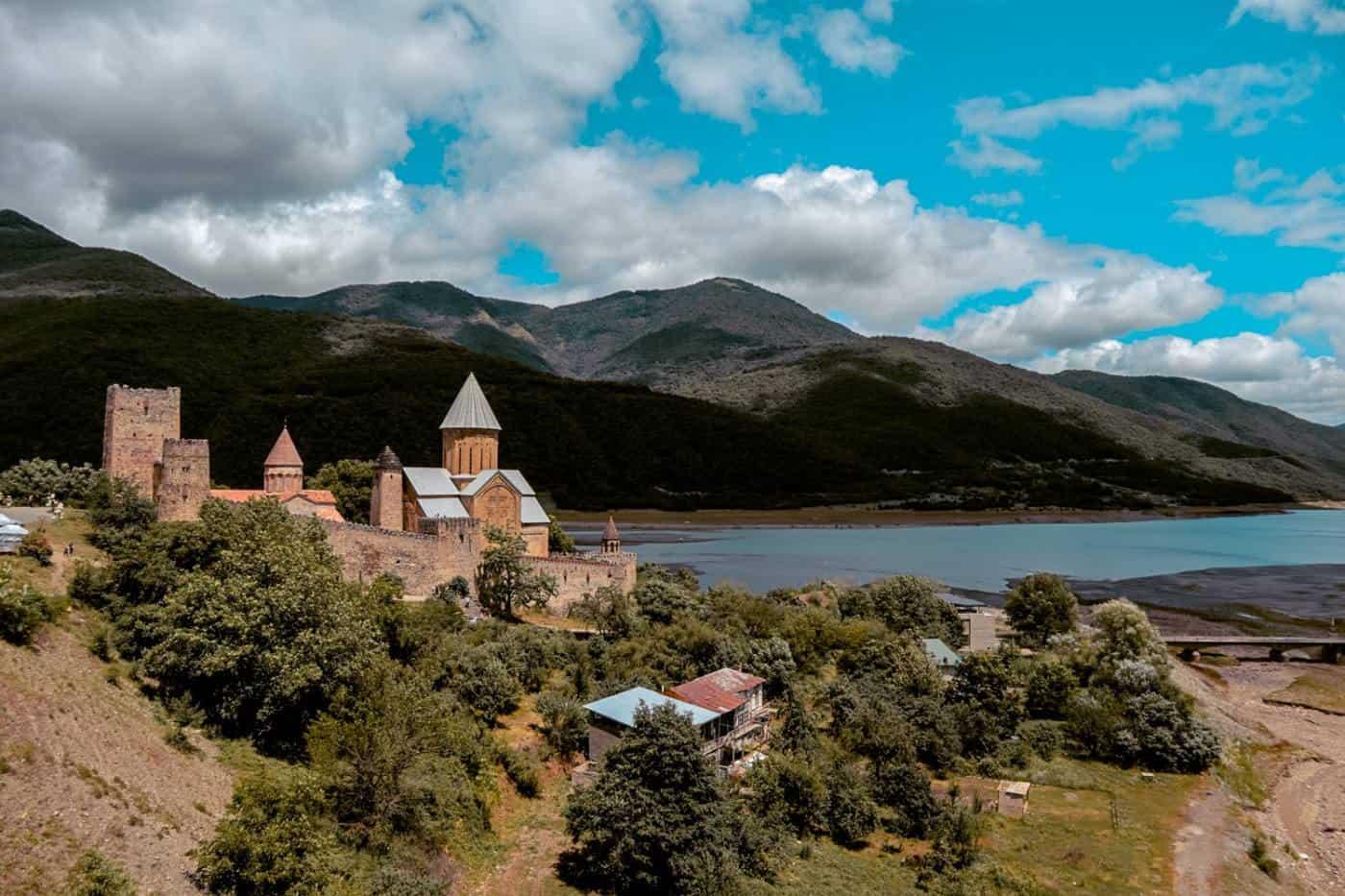Georgia Roadtrip Anunuri Fortress Kazbegi