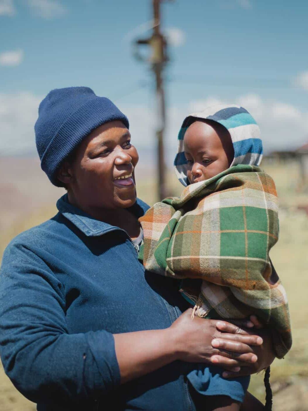 Pictures of Lesotho mother and child