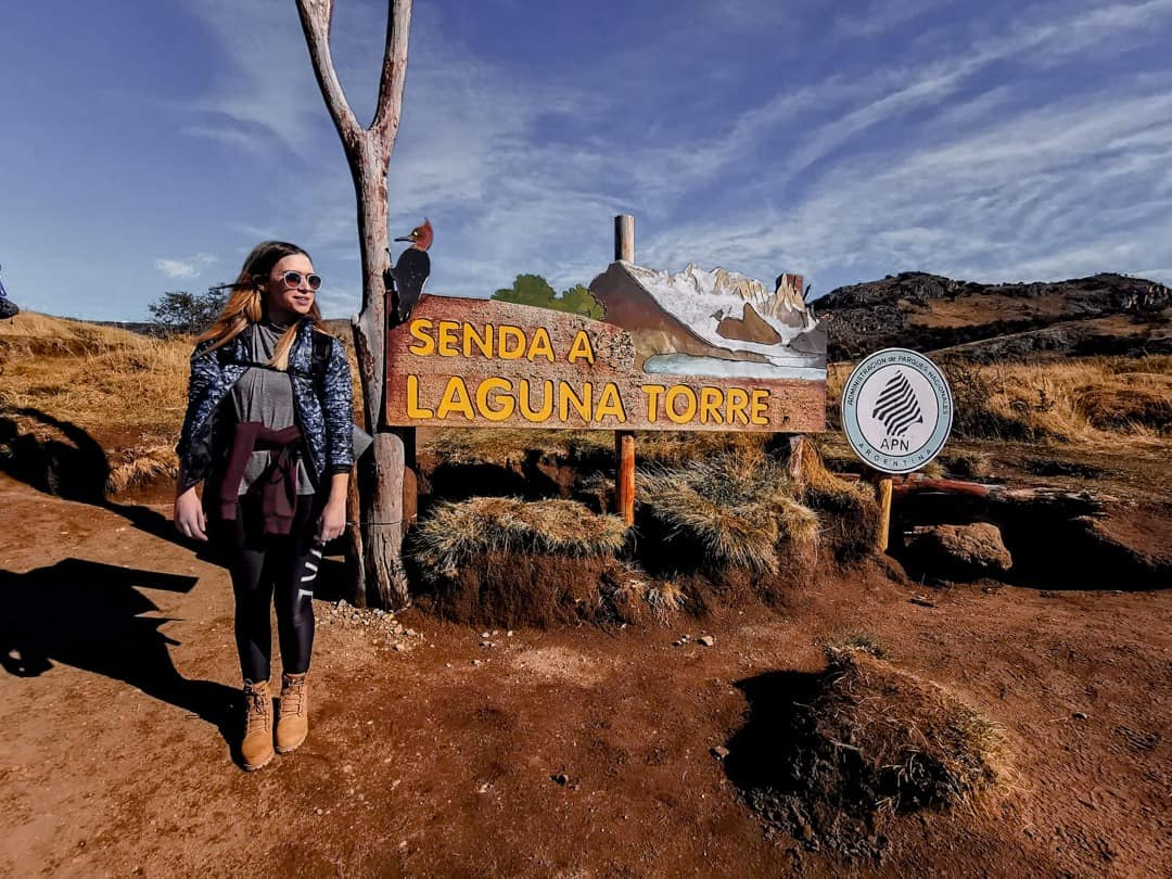 The trailhead of the Laguna Torre hike