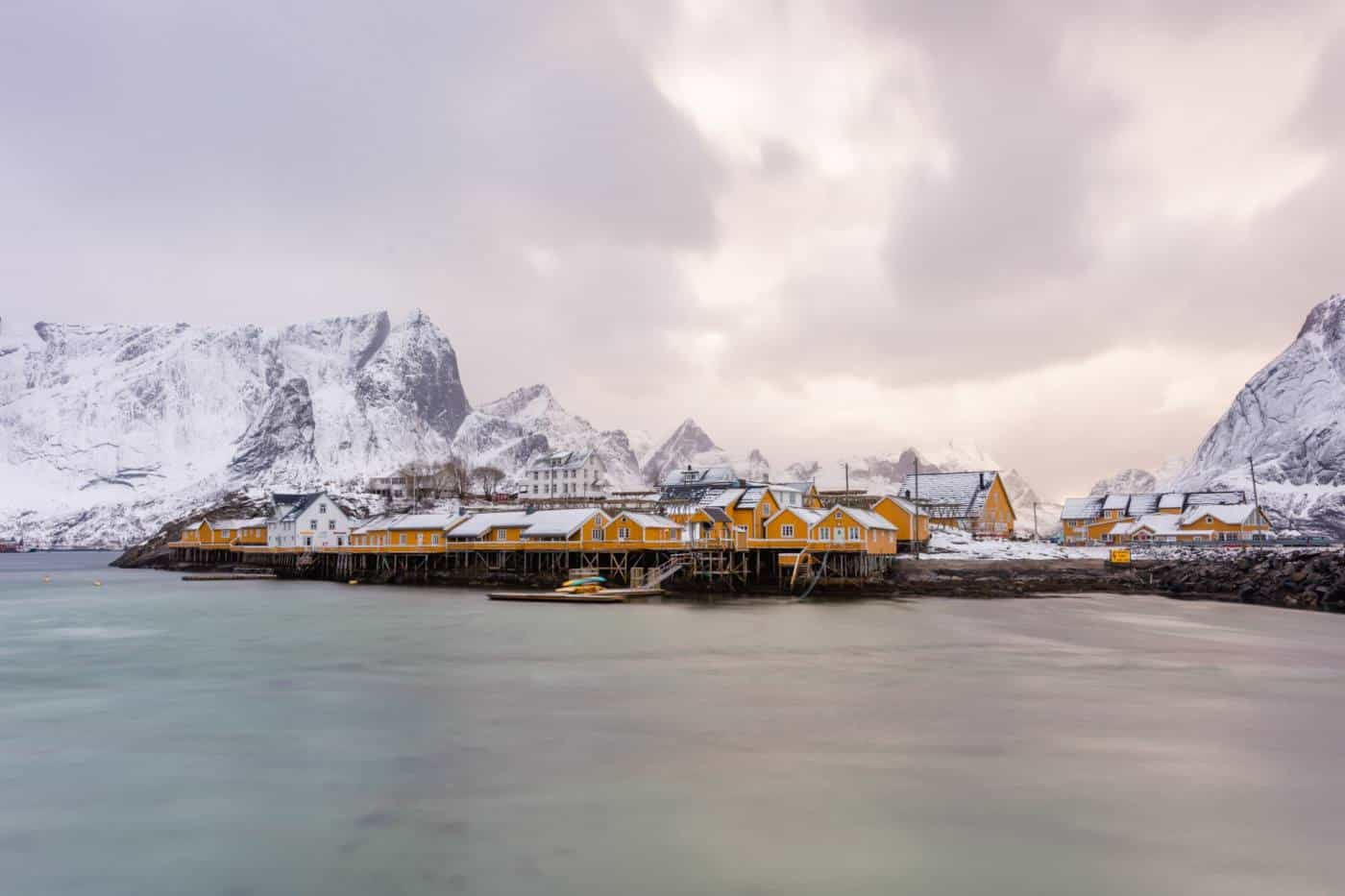 Lofoten Islands yellow cabins