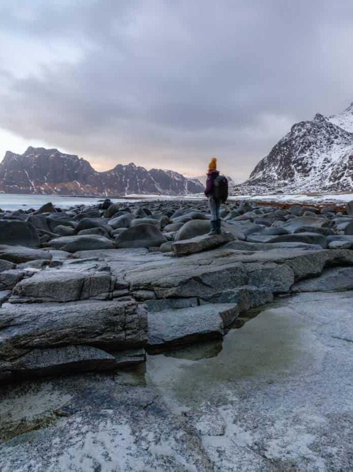 Lofoten Islands Uttakleiv beach