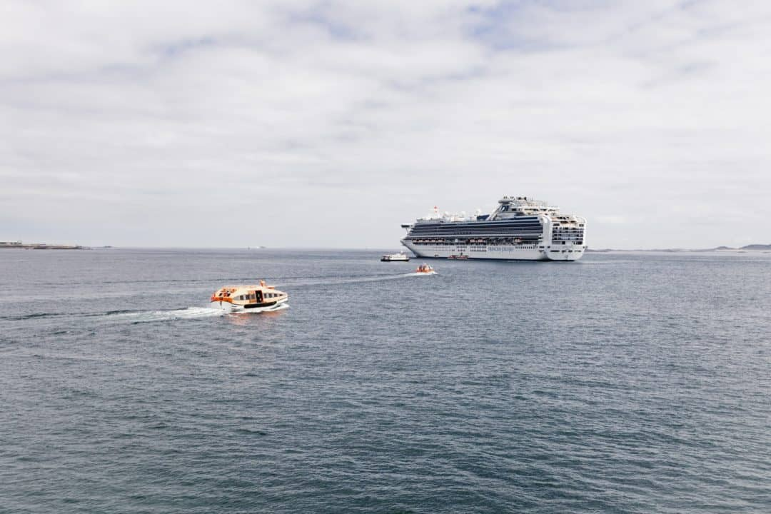 Princess Cruises tender in St Peter Port Guernsey