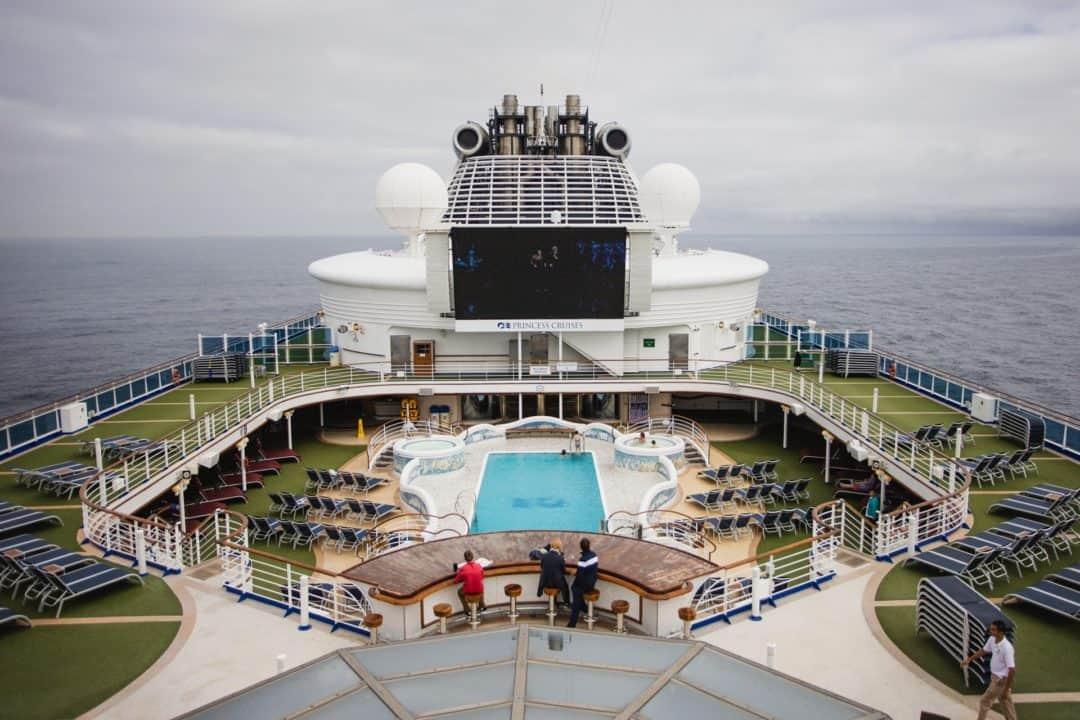 Princess Cruises Sapphire Princess cruise ship swimming pool