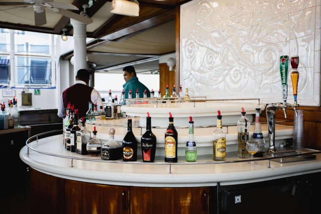 Princess Cruises top deck bar on the Sapphire Princess