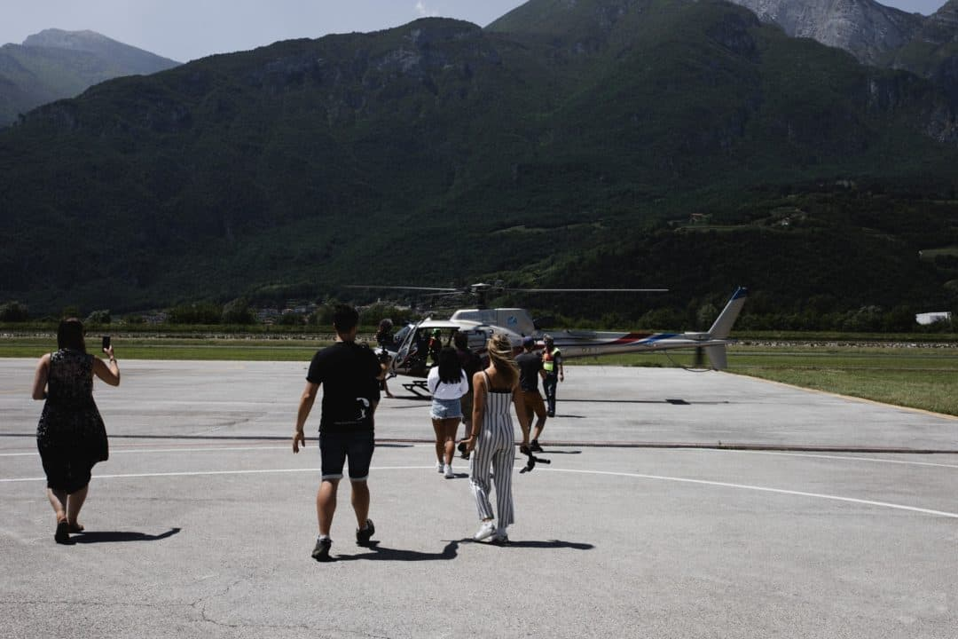 Traverse 2019 Blogging conference in Trento Italy helicopter event