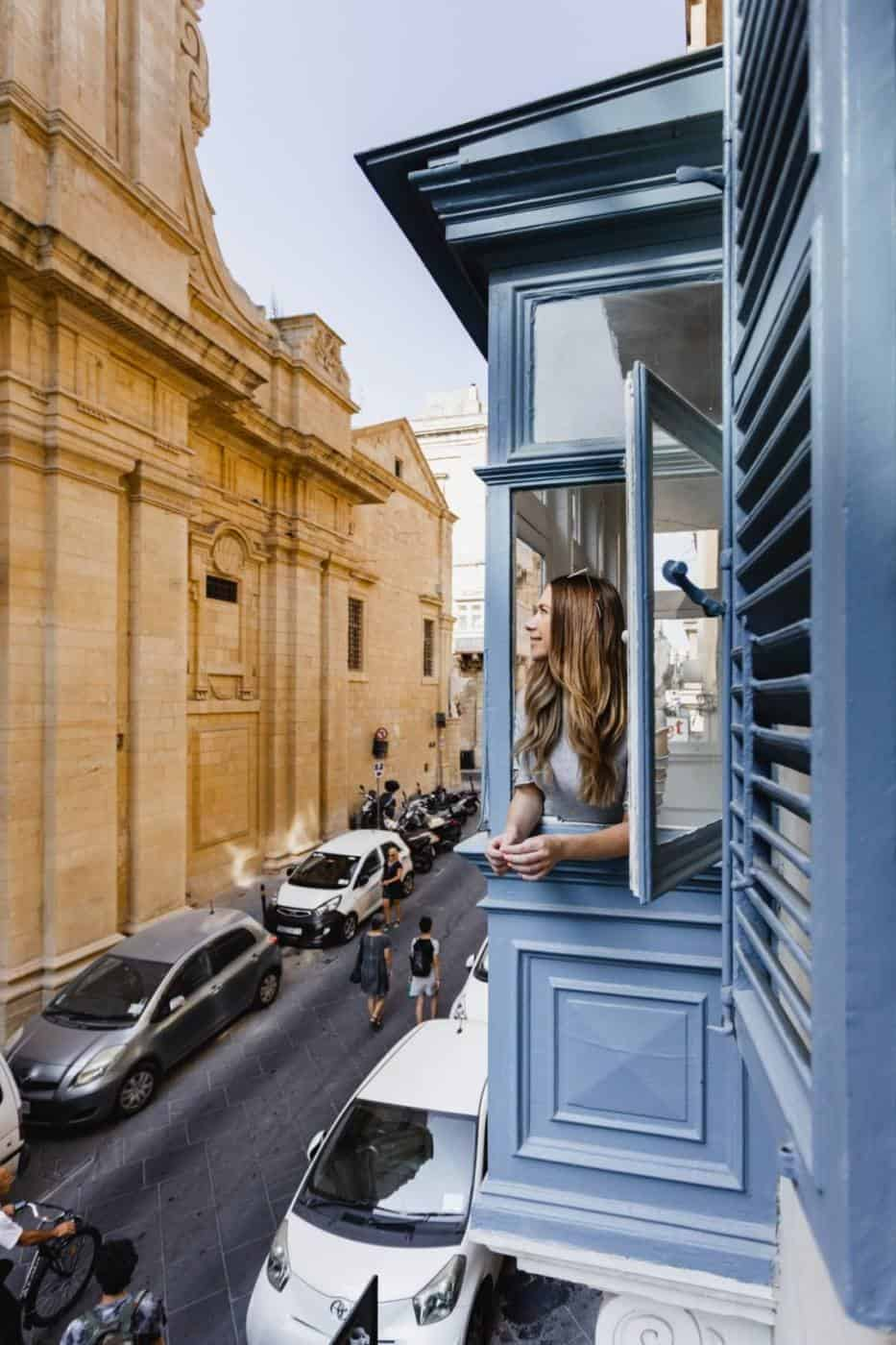AX The Saint John hotel in Valletta Malta with Maltese balcony